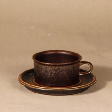 Arabia Ruska teekuppi, ruskea, 6 kpl, suunnittelija Ulla Procope,  kuva 2