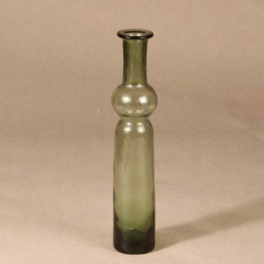 Riihimäen lasi Neptuna koristepullo, vihreä, suunnittelija Nanny Still,