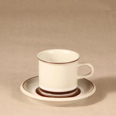Arabia Hilkka kahvikuppi ja lautaset, suunnittelija , raitakoriste kuva 2