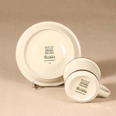 Arabia Hilkka kahvikuppi ja lautaset, suunnittelija , raitakoriste kuva 4