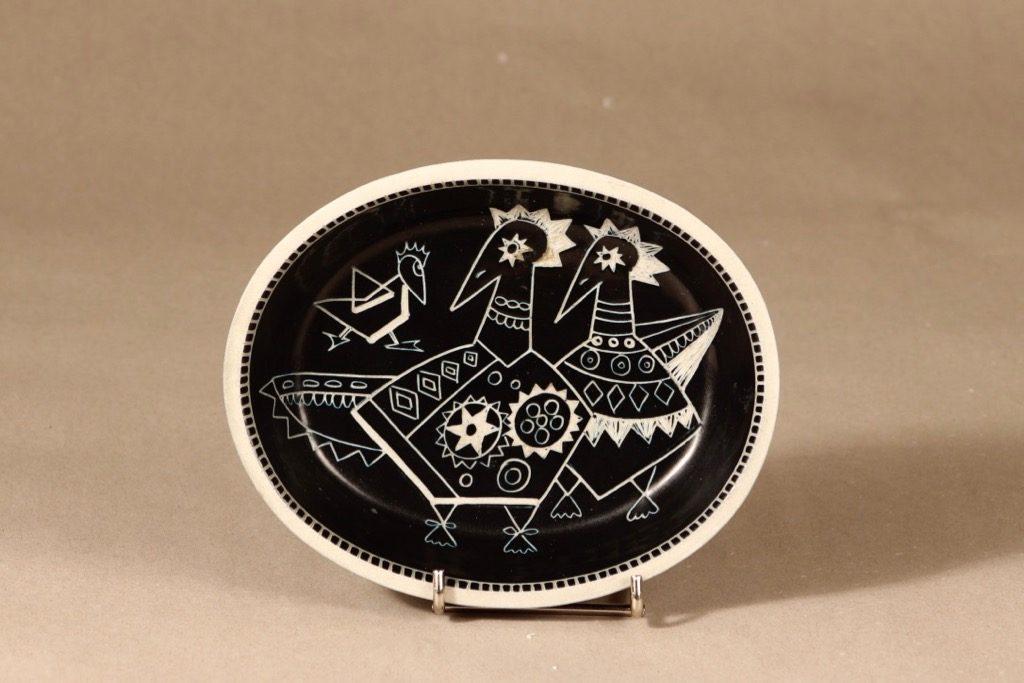 Arabia Tarina kulho, ruskea, suunnittelija Arabian Taideteollisuusosasto, raaputuskoriste