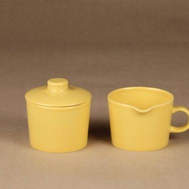 Arabia Teema sugar bowl and creamer designer Kaj Franck