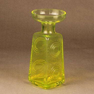 Riihimäen lasi Auringonkukka maljakko, keltainen, suunnittelija Tamara Aladin,  kuva 2