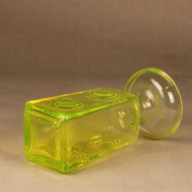Riihimäen lasi Auringonkukka maljakko, keltainen, suunnittelija Tamara Aladin,  kuva 3