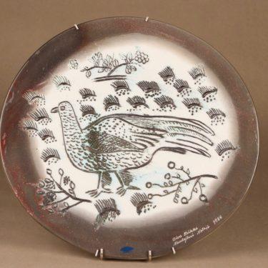 Nuutajärvi Fauna Fennica seinätaulu, lintu, suunnittelija Oiva Toikka, lintu, signeerattu