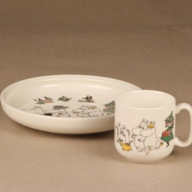 Arabia Moomin plate and mug Happy Family designer Tove Slotte
