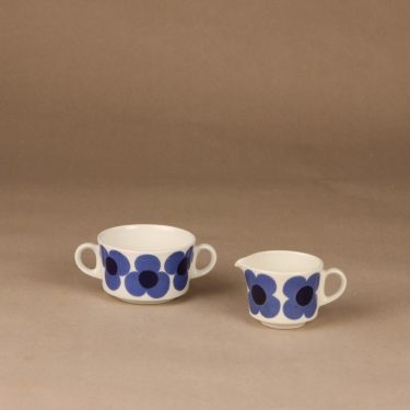 Arabia Aurinko sugar bowl and creamer designer Esteri Tomula