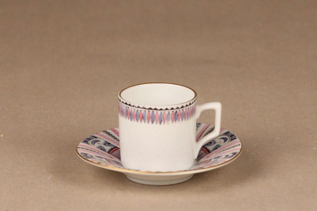 Arabia kahvikuppi, käsinmaalattu, pieni, suunnittelija , käsinmaalattu, pieni, signeerattu