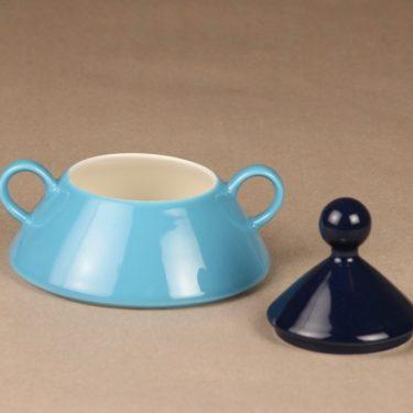 Arabia Harlekin turkos sugar bowl and creamer designer Inkeri Leivo 2