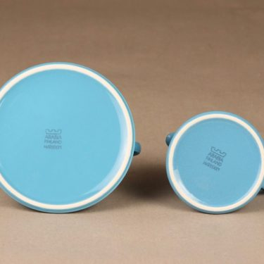 Arabia Harlekin turkos sugar bowl and creamer designer Inkeri Leivo 3