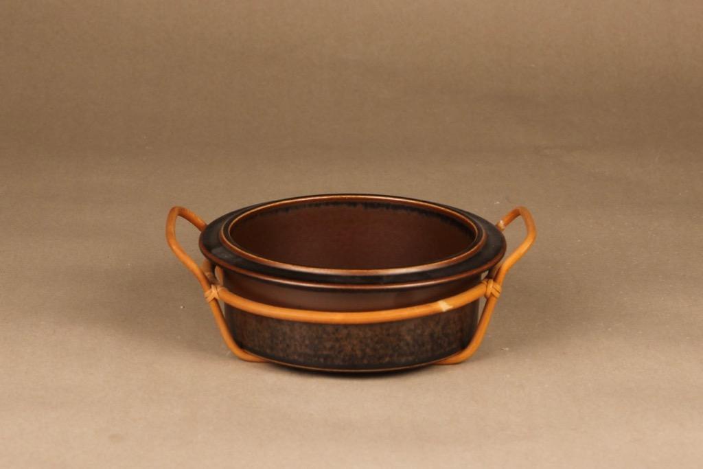 Arabia Ruska bowl with rattan designer Ulla Procope