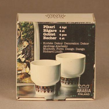 Arabia snapsilasit, 4 kpl, suunnittelija Andreas Alariesto,  kuva 3