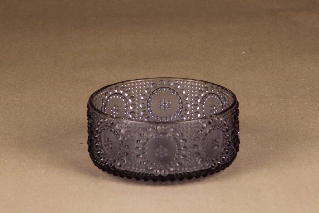 Riihimäen lasi Grapponia dessert bowl, neodyme designer Nanny Still