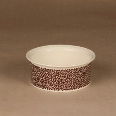 Arabia Faenza bowl brown flower designer Inkeri Seppälä