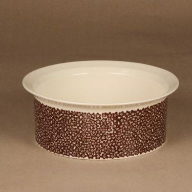 Arabia Faenza brown flower bowl designer Inkeri Seppälä