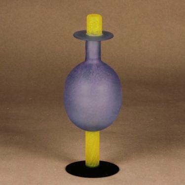 Nuutajärvi Pro Arte bottle Oz, turquoise designer Oiva Toikka