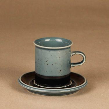 Arabia Meri kahvikuppi, turkoosi, suunnittelija Ulla Procope,
