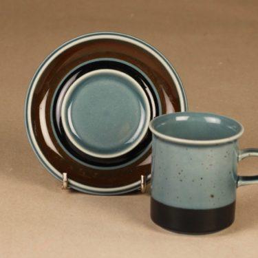 Arabia Meri kahvikuppi, turkoosi, suunnittelija Ulla Procope,  kuva 2