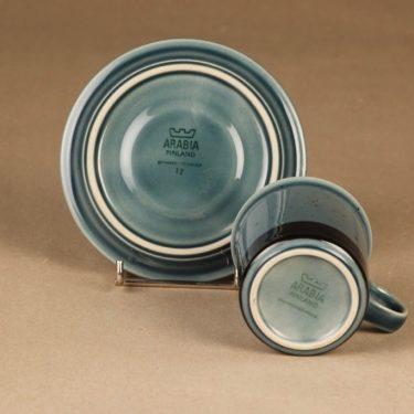 Arabia Meri kahvikuppi, turkoosi, suunnittelija Ulla Procope,  kuva 3
