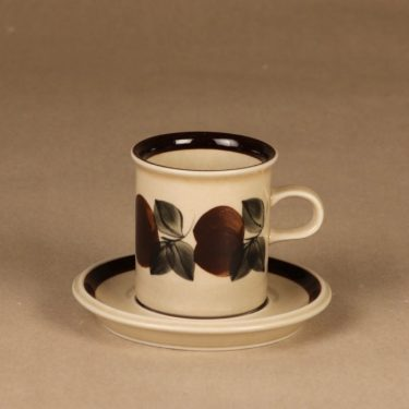 Arabia Ruija kahvikuppi, ruskea, suunnittelija Raija Uosikkinen,