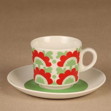 Arabia Unkari kahvikuppi, puhalluskoriste, suunnittelija , puhalluskoriste