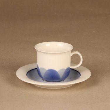 Arabia Pudas Arctica kahvikuppi, sininen, suunnittelija Inkeri Leivo, serikuva