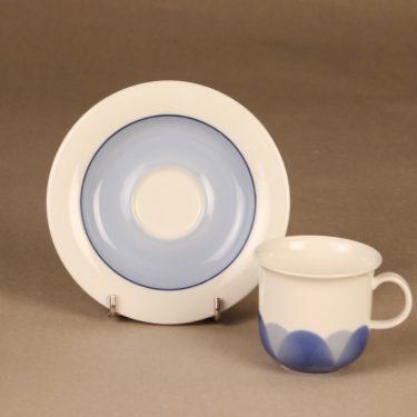 Arabia Pudas Arctica kahvikuppi, sininen, suunnittelija Inkeri Leivo, serikuva kuva 2