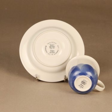Arabia Pudas Arctica kahvikuppi, sininen, suunnittelija Inkeri Leivo, serikuva kuva 3
