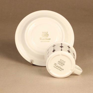 Arabia Kartano kahvikuppi, mustavalkoinen, suunnittelija Esteri Tomula, serikuva kuva 3