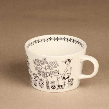 Arabia Emilia kahvikuppi ja erikoislautanen, 18 cl, suunnittelija Raija Uosikkinen, 18 cl, kuparipainokoriste kuva 4