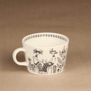 Arabia Emilia kahvikuppi ja erikoislautanen, 18 cl, suunnittelija Raija Uosikkinen, 18 cl, kuparipainokoriste kuva 6