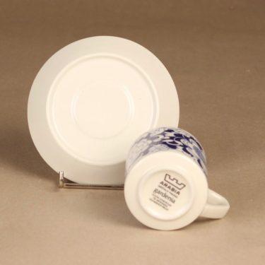 Arabia Gardenia kahvikuppi, sininen, suunnittelija Esteri Tomula, serikuva, kukka-aihe kuva 3