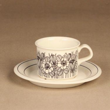 Arabia Krokus coffee cup, B/W designer Esteri Tomula