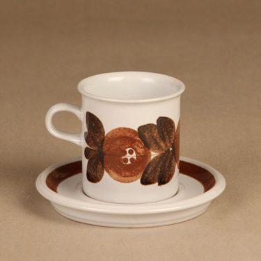 Arabia Rosmarin kahvikuppi, käsinmaalattu, suunnittelija Ulla Procope, käsinmaalattu, signeerattu