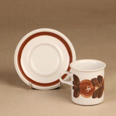 Arabia Rosmarin kahvikuppi, käsinmaalattu, suunnittelija Ulla Procope, käsinmaalattu, signeerattu kuva 2
