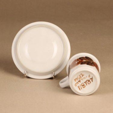 Arabia Rosmarin kahvikuppi, käsinmaalattu, suunnittelija Ulla Procope, käsinmaalattu, signeerattu kuva 3