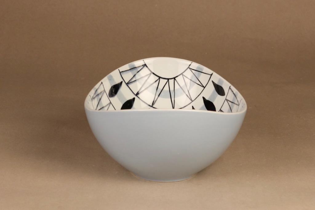 Arabia AR kulho, käsinmaalattu, suunnittelija Olga Osol, käsinmaalattu, soikea, retro