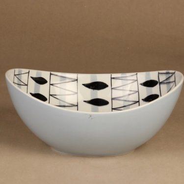 Arabia AR kulho, käsinmaalattu, suunnittelija Olga Osol, käsinmaalattu, soikea, retro kuva 2