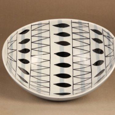 Arabia AR kulho, käsinmaalattu, suunnittelija Olga Osol, käsinmaalattu, soikea, retro kuva 3