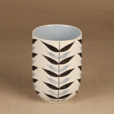 Arabia maljakko, käsinmaalattu, suunnittelija Olga Osol, käsinmaalattu, soikea, retro kuva 2