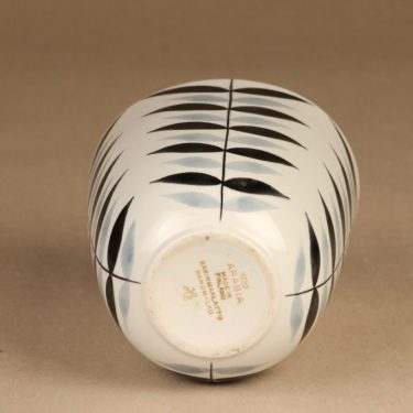 Arabia maljakko, käsinmaalattu, suunnittelija Olga Osol, käsinmaalattu, soikea, retro kuva 3