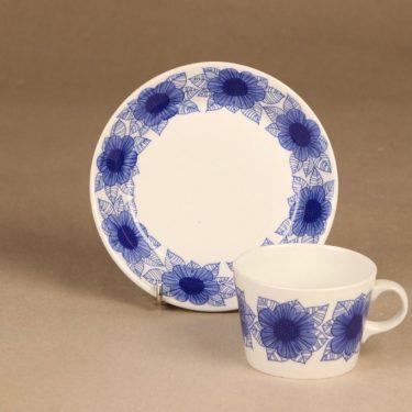Arabia Malva kahvikuppi, sininen, suunnittelija Esteri Tomula, serikuva kuva 2