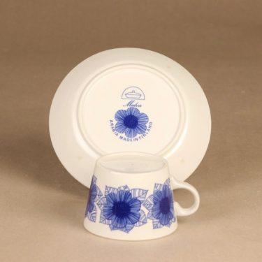 Arabia Malva kahvikuppi, sininen, suunnittelija Esteri Tomula, serikuva kuva 3