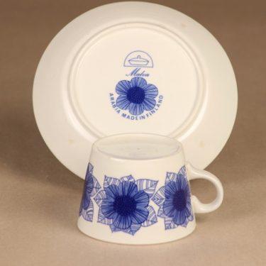 Arabia Malva kahvikuppi, sininen, suunnittelija Esteri Tomula, serikuva kuva 4
