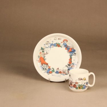 Arabia Moomin cup and plate designer Tove Slotte