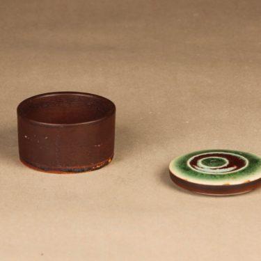 Arabia Ornamentti rasia, käsinmaalattu, suunnittelija Annikki Hovisaari, käsinmaalattu, kannellinen, signeerattu kuva 2
