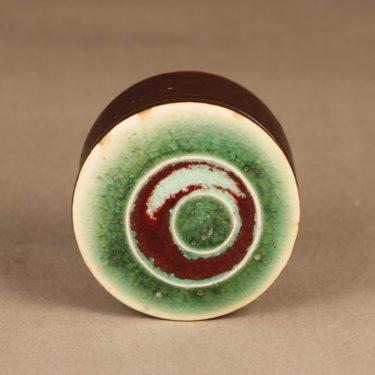 Arabia Ornamentti rasia, käsinmaalattu, suunnittelija Annikki Hovisaari, käsinmaalattu, kannellinen, signeerattu kuva 4