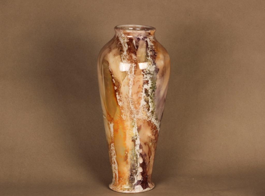 Arabia Loistomarmori maljakko, suunnittelija , lysterimarmorikoriste, suuri