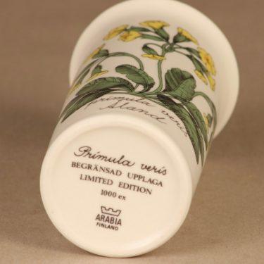 Arabia Botanica maljakko, Primula veris, suunnittelija Esteri Tomula, Primula veris, Tilaustyö, 1000 kpl kuva 2