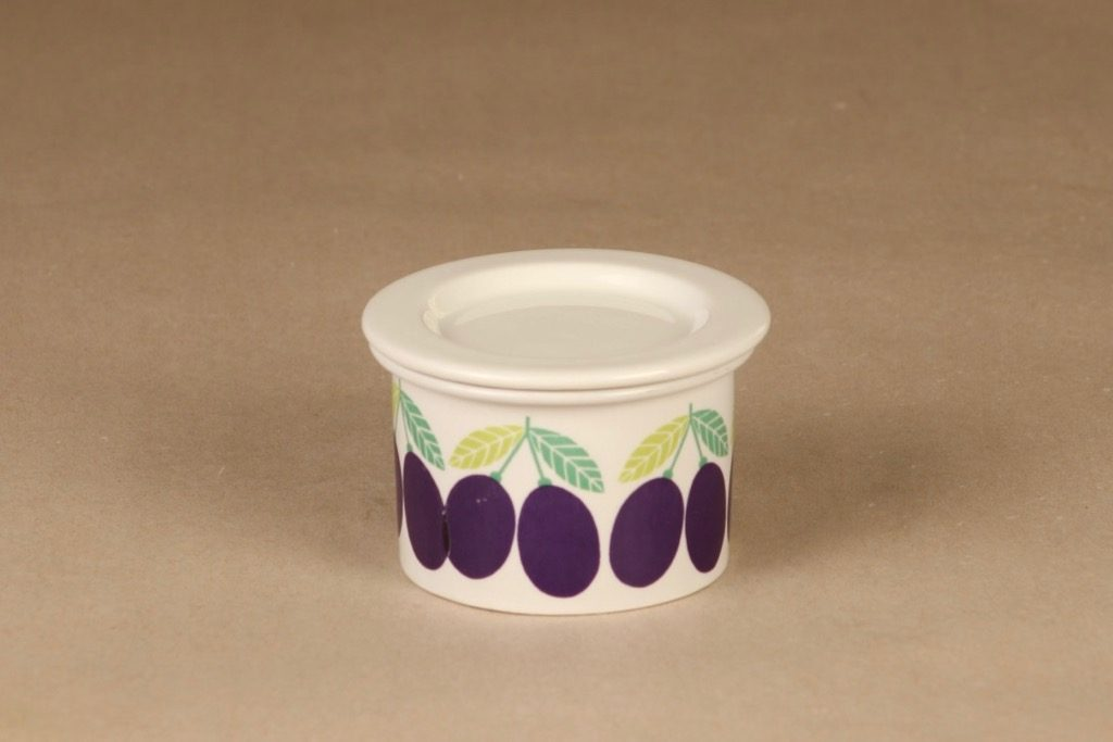 Arabia Pomona  jar, plum designer Raija Uosikkinen